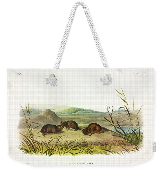Northern Meadow-mouse Weekender Tote Bag