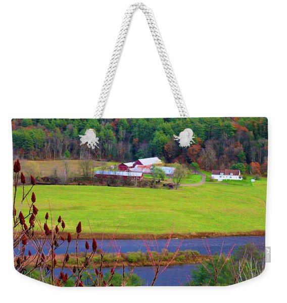 Northern Vermont Vista Weekender Tote Bag