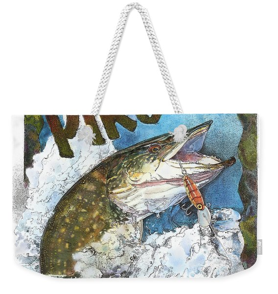 Northerrn Pike Weekender Tote Bag