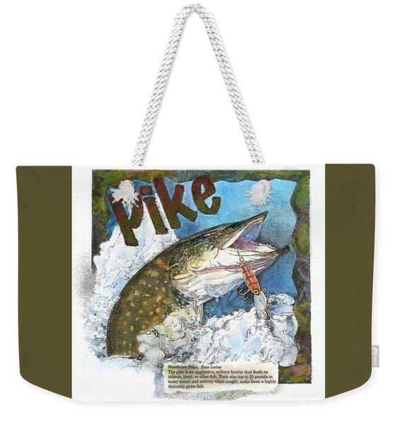 Northerrn Pike Weekender Tote Bag