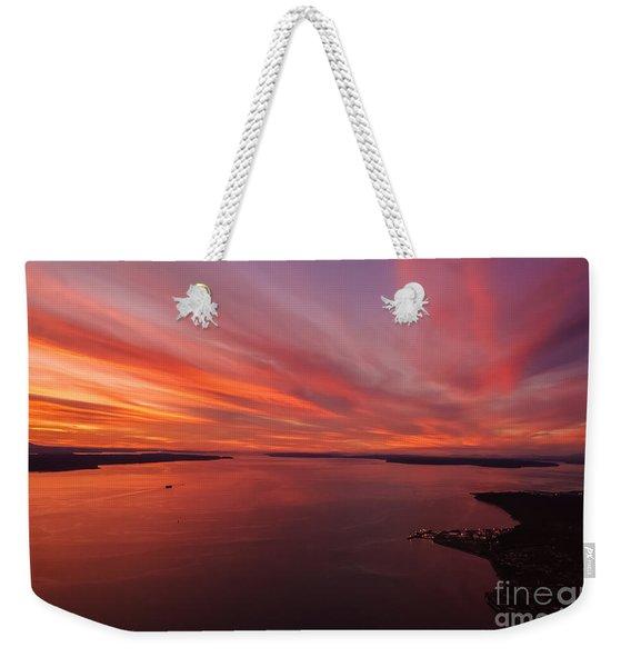 Northwest Searing Sunset Palette Weekender Tote Bag