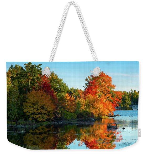 Northwood Lake Autumn Weekender Tote Bag