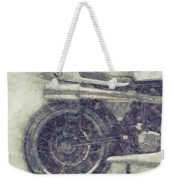 Norton Manx 1 - Norton Motorcycles - 1947 - Vintage Motorcycle Poster - Automotive Art Weekender Tote Bag