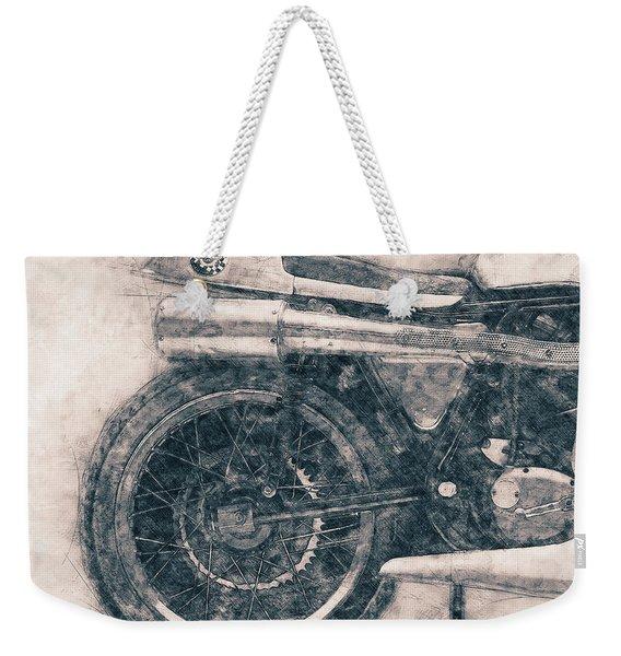 Norton Manx - Norton Motorcycles - 1947 - Vintage Motorcycle Poster - Automotive Art Weekender Tote Bag