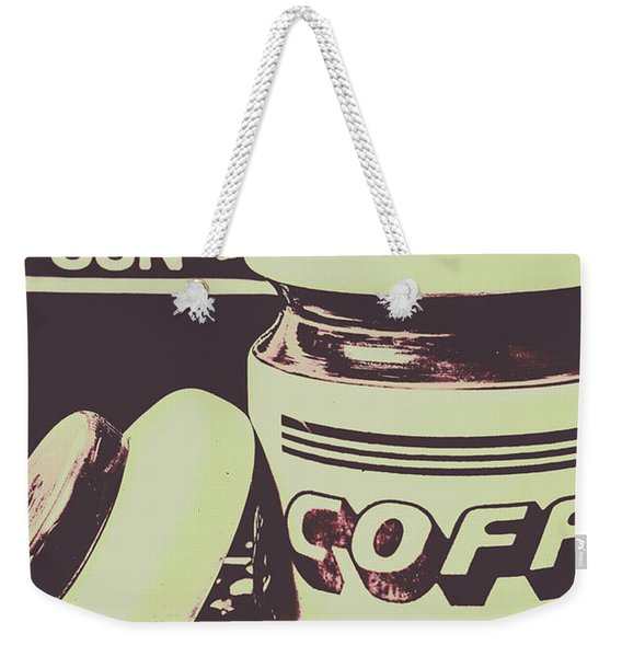 Nostalgic Cafe Art Weekender Tote Bag