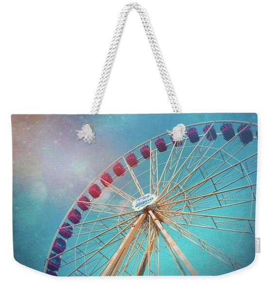 Nostalgic Ferris Wheel Geneva Switzerland  Weekender Tote Bag