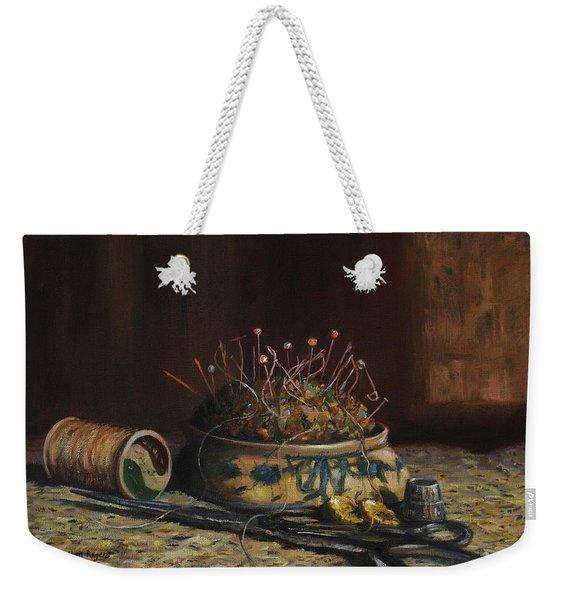 Notions Weekender Tote Bag