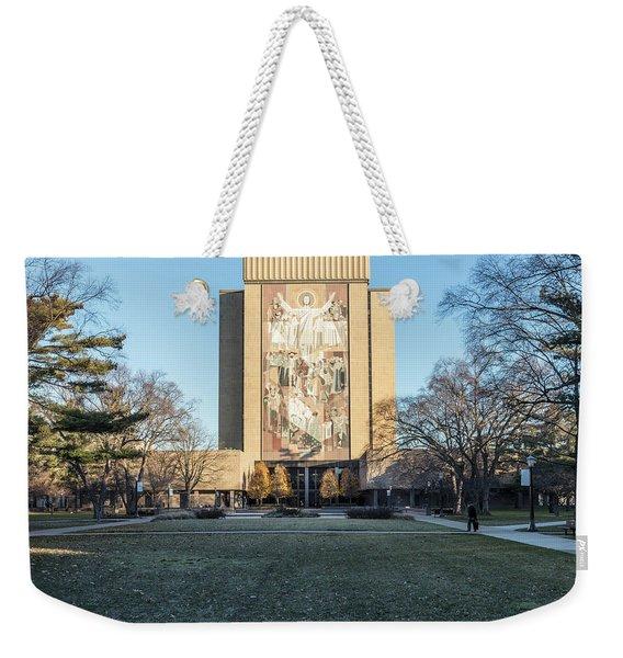 Notre Dame Touchdown Jesus  Weekender Tote Bag