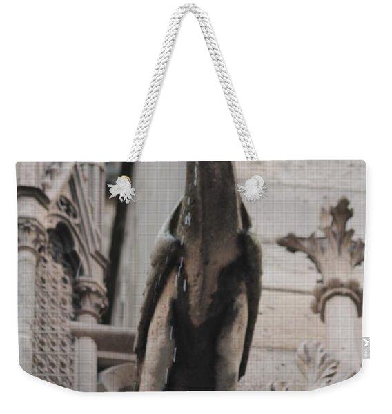 Rain Spouting Gargoyle. Weekender Tote Bag