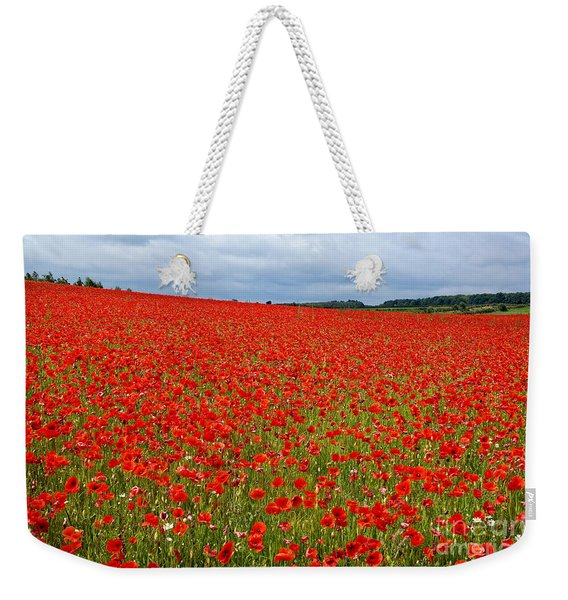 Nottinghamshire Poppy Field Weekender Tote Bag