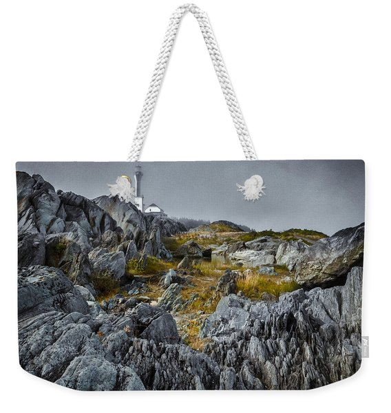 Weekender Tote Bag featuring the photograph Nova Scotia's Rocky Shore by Garvin Hunter
