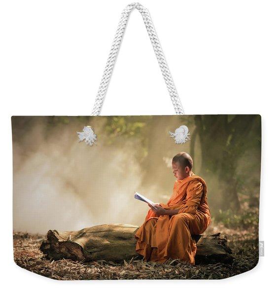 Novice Is Learning Religion Weekender Tote Bag