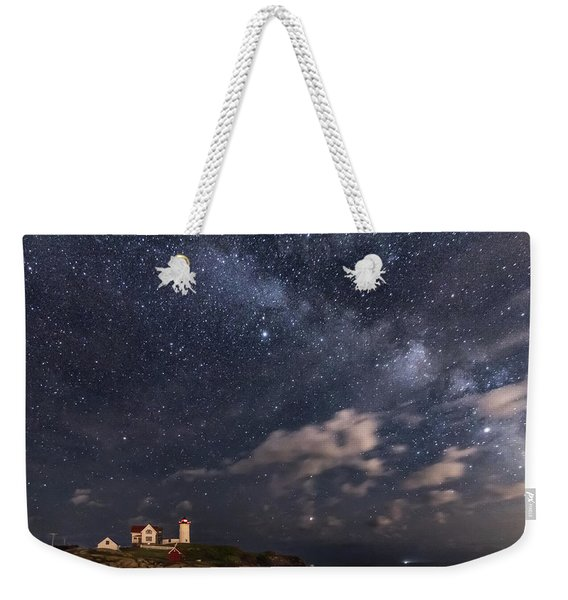 Nubble Lighthouse Under The Milky Way Weekender Tote Bag