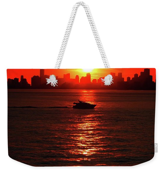 Nuclear Miami Sunset Weekender Tote Bag