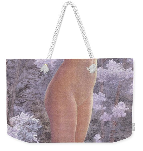 Nude Amongst Flowers Weekender Tote Bag