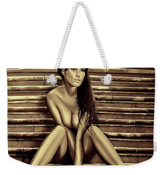 Nude City Beauty Sepia Weekender Tote Bag