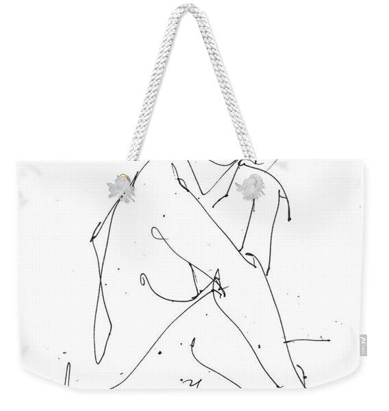 Nude-female-drawing-19 Weekender Tote Bag