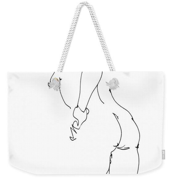 Nude Female Drawings 11 Weekender Tote Bag