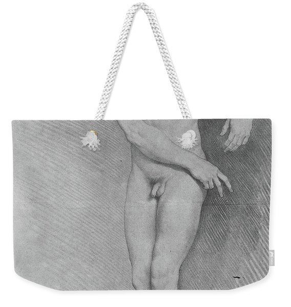 Nude Looking Down To The Left Weekender Tote Bag