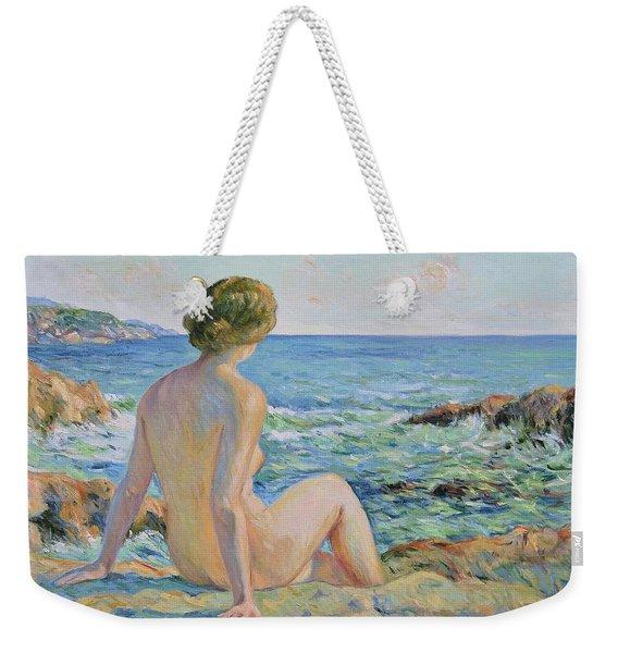 Nude On The Coast Monaco Weekender Tote Bag