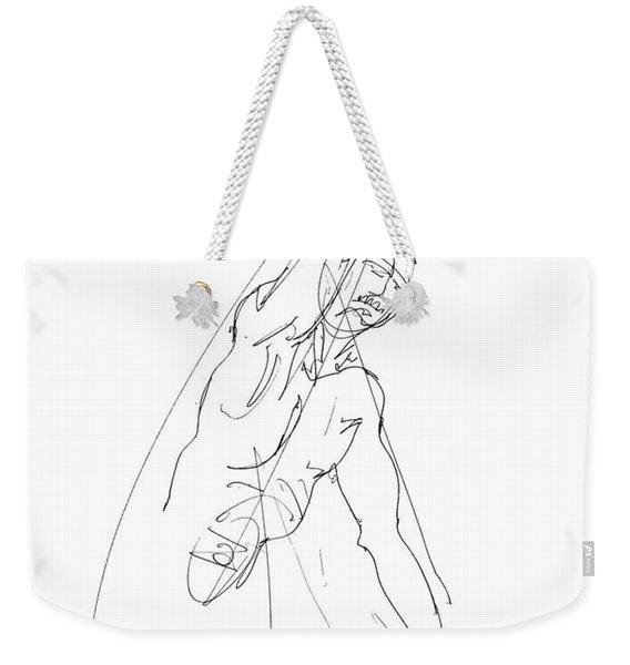 Nude_male_drawing_25 Weekender Tote Bag