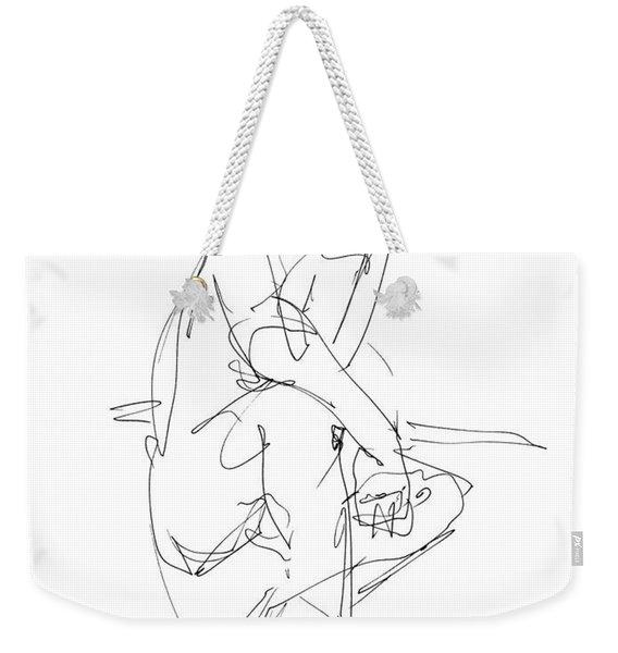 Nude_male_drawing_29 Weekender Tote Bag
