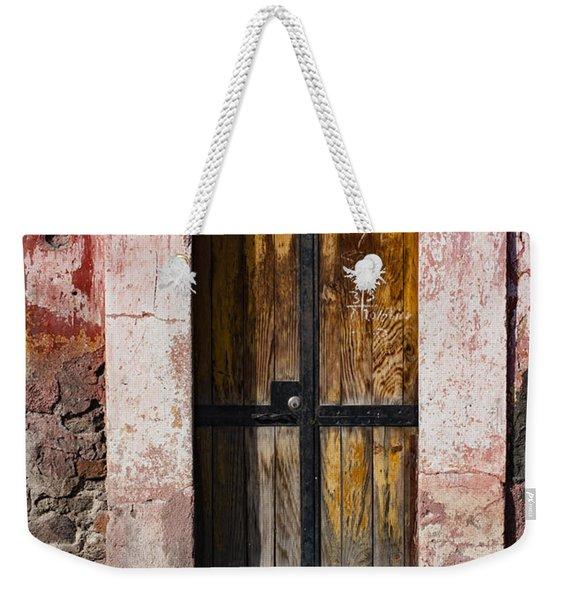 Number 139 San Miguel De Allende Weekender Tote Bag