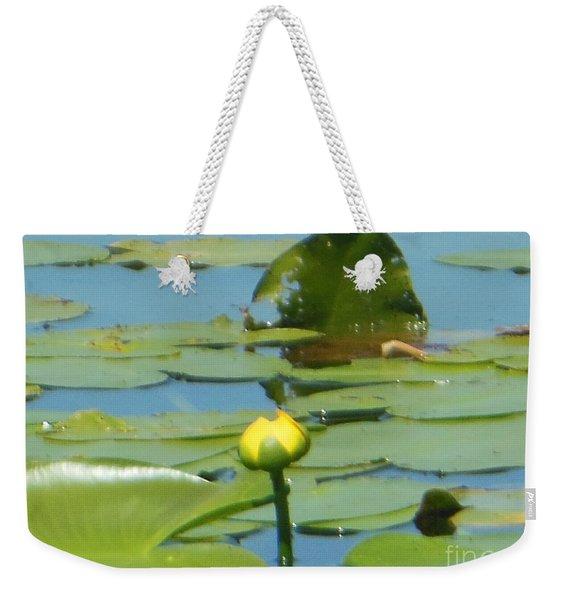 Nuphar Lutea Yellow Pond Weekender Tote Bag