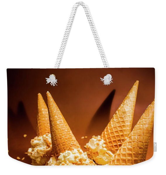 Nuts Over Ice-cream. Birthday Party Background Weekender Tote Bag