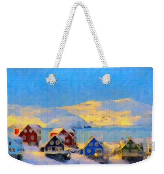 Nuuk, Greenland Weekender Tote Bag