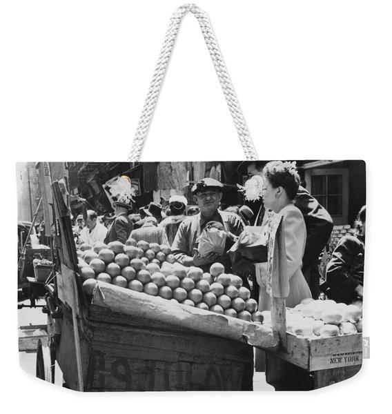 Ny Push Cart Vendors Weekender Tote Bag