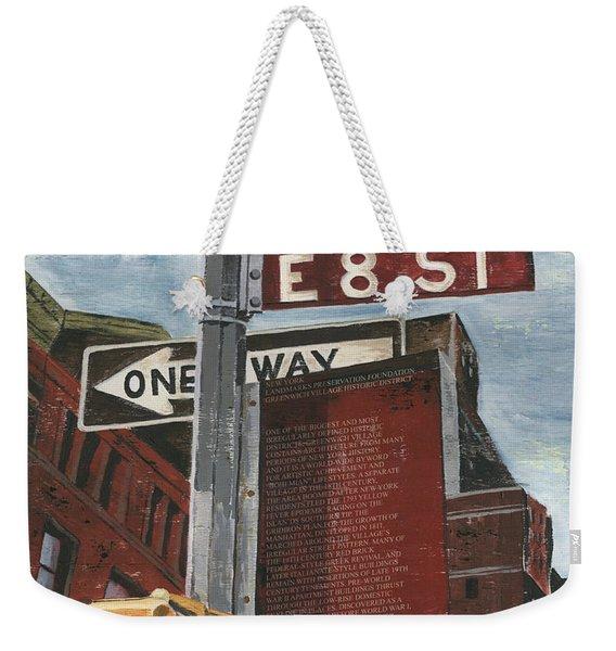 Nyc 8th Street Weekender Tote Bag