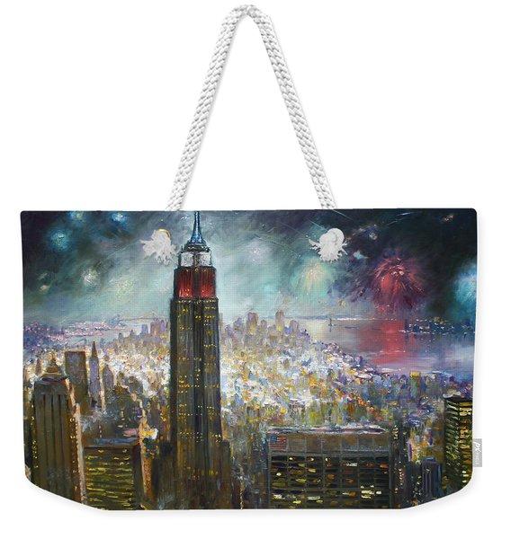 Nyc. Empire State Building Weekender Tote Bag