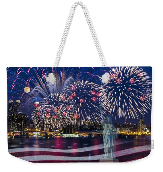 Nyc Fourth Of July Celebration Weekender Tote Bag