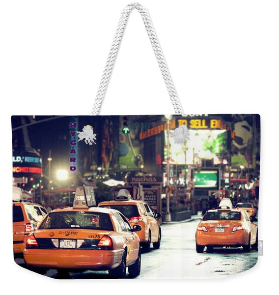 New York City Night Drive Weekender Tote Bag