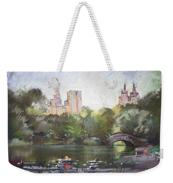 Nyc Resting In Central Park Weekender Tote Bag