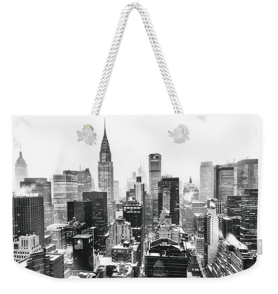 Nyc Snow Weekender Tote Bag