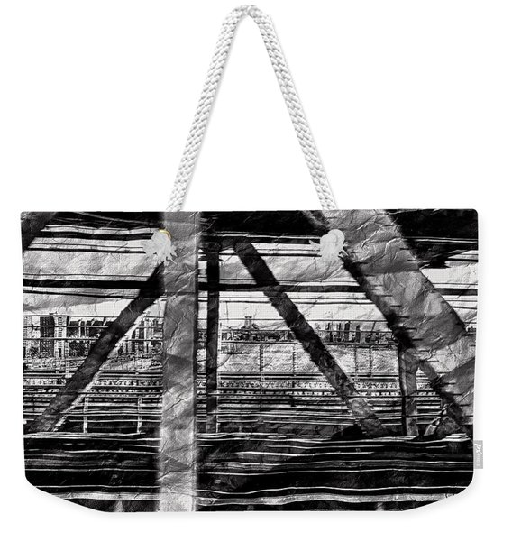 Nyc Train Bridge Tracts Weekender Tote Bag