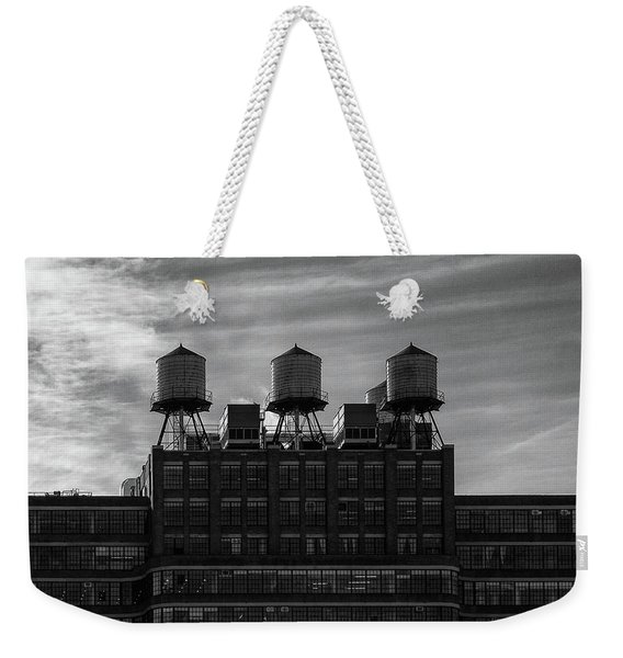 Weekender Tote Bag featuring the photograph New York Water Towers by Michael Hope