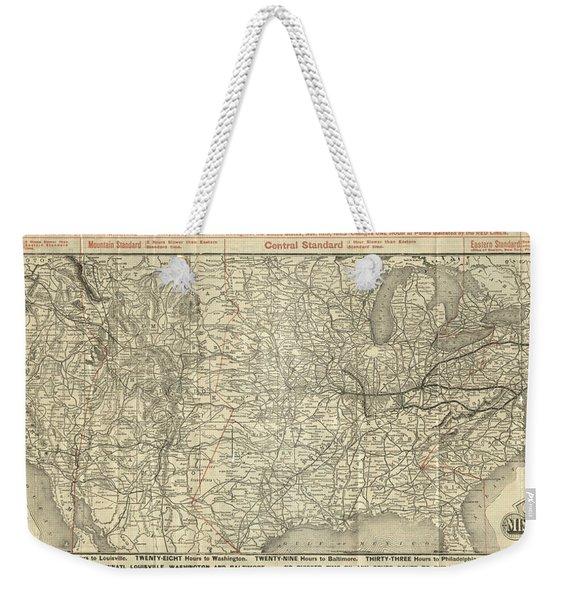 O And M Map Weekender Tote Bag