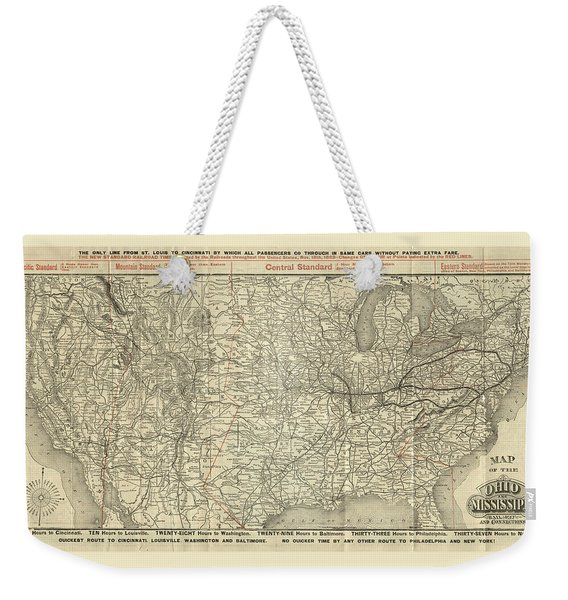 O And M Map Weekender Tote Bag