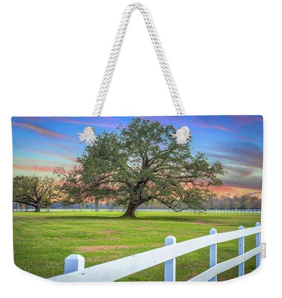 Oak Alley Signature Tree At Sunset Weekender Tote Bag
