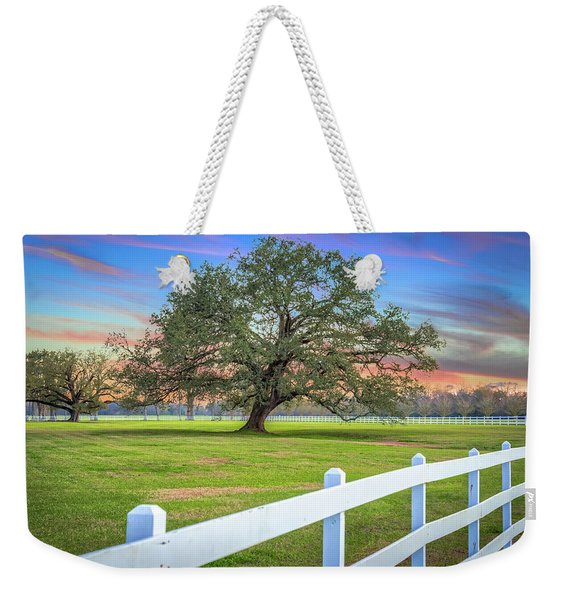 Oak Alley Signature Tree At Sunset Weekender Tote Bag