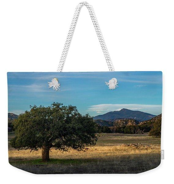 Oak And Cuyamaca Weekender Tote Bag