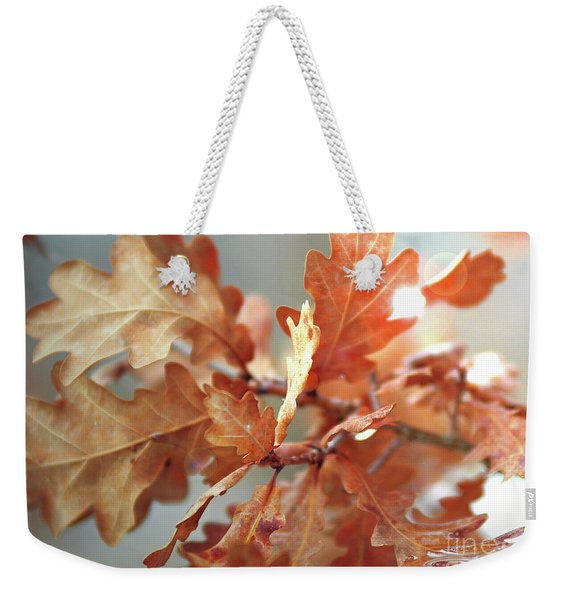 Oak Leaves In Autumn Weekender Tote Bag