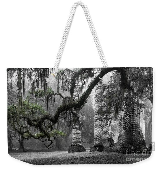 Oak Limb At Old Sheldon Church Weekender Tote Bag