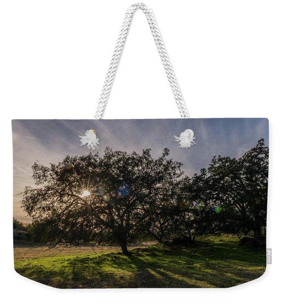 Oak Sunburst Weekender Tote Bag