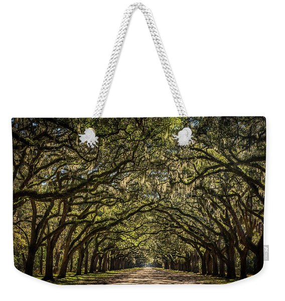 Oak Tree Tunnel Weekender Tote Bag