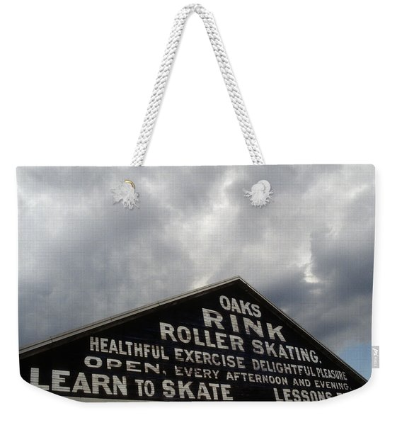 Weekender Tote Bag featuring the photograph Oaks Skating Rink by Frank DiMarco