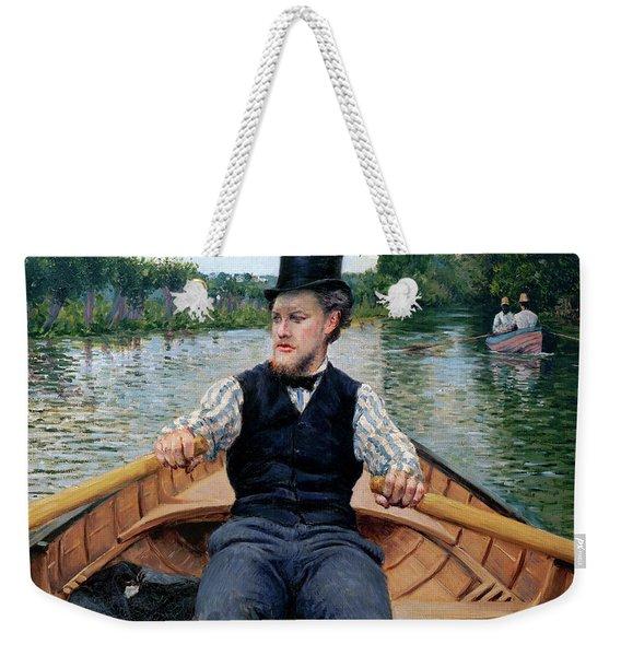 Oarsman In A Top Hat Weekender Tote Bag